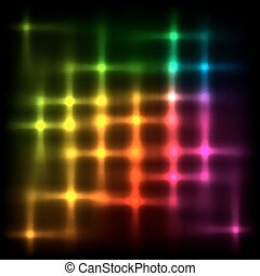 Rainbow disco lights vector abstract background