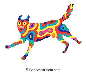 Rainbow Dog 1