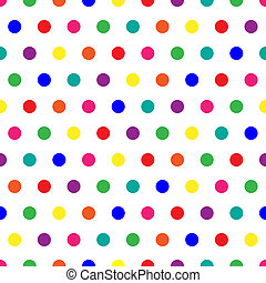 Bright polka dots background in rainbow colors