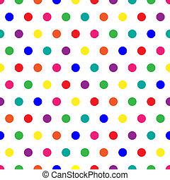 Rainbow Dots - Bright polka dots background in rainbow...
