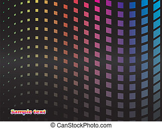Rainbow dotted wave background design