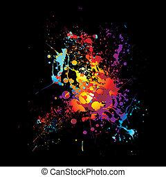 rainbow dribble splat
