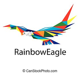 Rainbow Eagle Logo