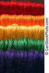 Embroidery floss, rainbow colors