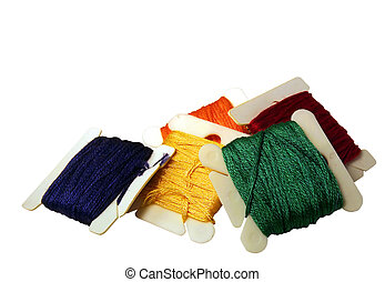 Rainbow - embroidery floss.. rainbow colors