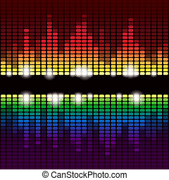 Rainbow equalizer vector background - Rainbow digital...