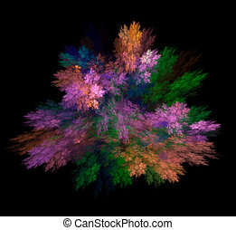 Rainbow explosion. Bright multicolored background. Fractal abstraction.