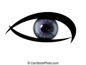 Colour pattern rainbow eye. eye iris textures