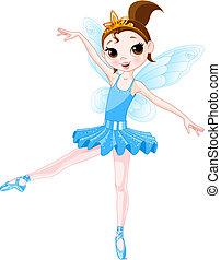 (rainbow, farben, ballerinen, series)., blaues, ballerina
