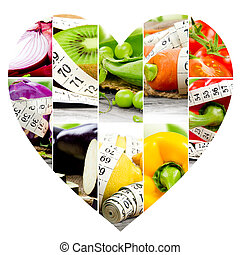 Rainbow Fitness Heart