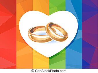 rainbow flag and rings