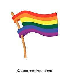 Rainbow flag cartoon icon