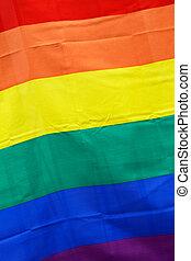 Rainbow flag close-up