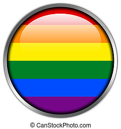 Rainbow Flag glossy button