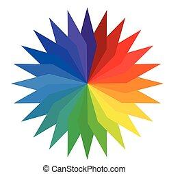 Rainbow Floral Wheel