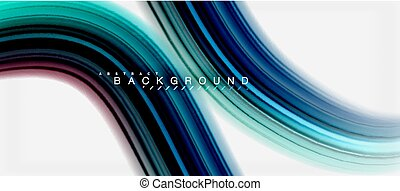Rainbow fluid abstract swirl shape, twisted liquid colors design, colorful marble or plastic wavy texture background, multicolored template for business or technology presentation or web brochure cover design, wallpaper