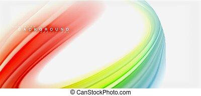 Rainbow fluid colors abstract background twisted liquid design, colorful marble or plastic wavy texture backdrop, multicolored template for business or technology presentation or web brochure cover layout, wallpaper