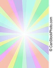 Rainbow flyer with rays