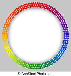 Rainbow frame, abstract vector