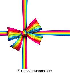 Rainbow Gift Ribbon Bow