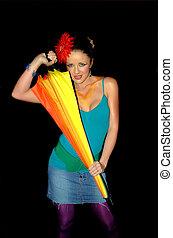 Rainbow girl 1