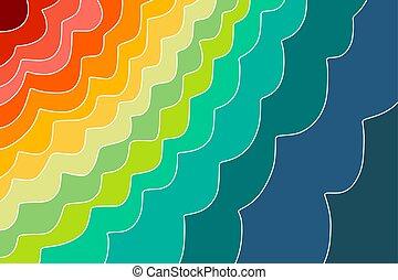 Rainbow gradient background for postcards