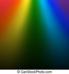 Rainbow gradient on black background. Color rainbow abstract mesh. Colorful bright soft design. Vibrant smooth blur. Light effect Vector illustration