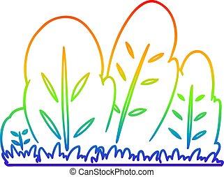 rainbow gradient line drawing cartoon hedge - rainbow ...