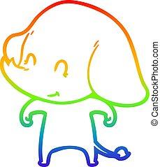 rainbow gradient line drawing cartoon illustration