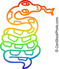 rainbow gradient line drawing cartoon