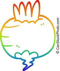 rainbow gradient line drawing cartoon swede - rainbow...