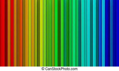 Rainbow gradient lines 3D render loopable animation - Bright...
