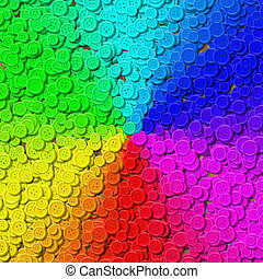Rainbow gradient sewing buttons generated background