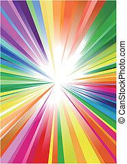 Rainbow graphic background