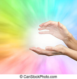 Rainbow healing energy field
