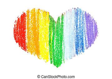 Rainbow heart  -  Gay pride colors