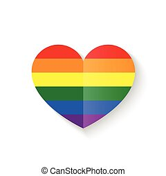 Rainbow Heart icon vector illustration