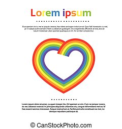 Rainbow Heart Logo Colorful Icon Vector