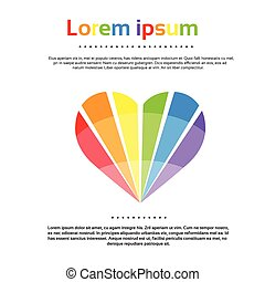 Rainbow Heart Logo Colorful Icon Vector Illustration