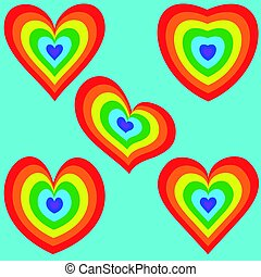 Rainbow Heart set 2