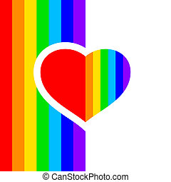 rainbow heart - vector illustration