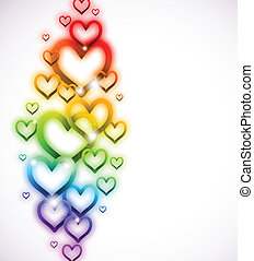 Rainbow Heart with Sparkles on white. Vector