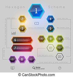 Rainbow Hexagon