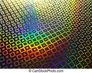 Rainbow hologram background - Rainbow holographic abstract...