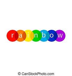 Rainbow icon, LGBT - Rainbow logo, LGBT symbol, night club...