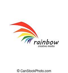 Rainbow icon logo vector template illustration design