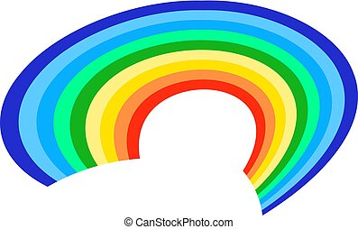 Rainbow icon on a white background. Flat vector illustration