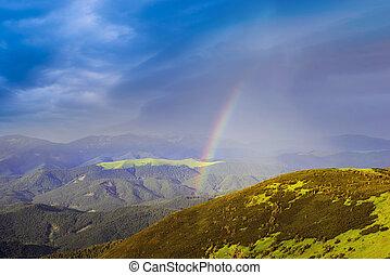 Rainbow in the Carpathians