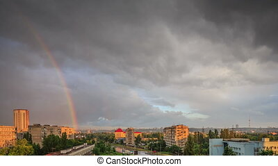 Rainbow in the city