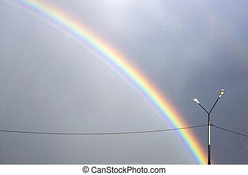 Rainbow in the nasty sky